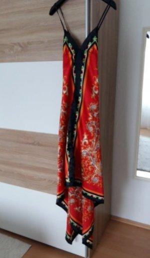 Pepe Jeans Kleid Hippie Boho Festival Sommer Seidig Satin Oriental Indie