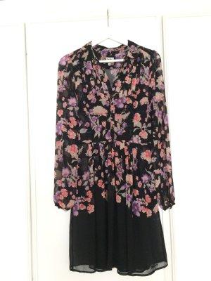 Pepe Jeans Kleid in schwarz mit Blumenmuster