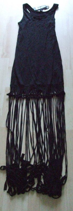 PEPE JEANS Kleid mit Fransen - Fransenkleid - Jerseykleid - NEU