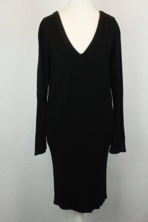 Pepe Jeans Kleid Strickkleid Gr. M schwarz V-Ausschnitt