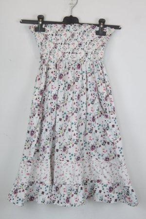 Pepe Jeans Kleid Trägerloses Kleid Gr. S weiß mit blumen Muster (18/6/176)