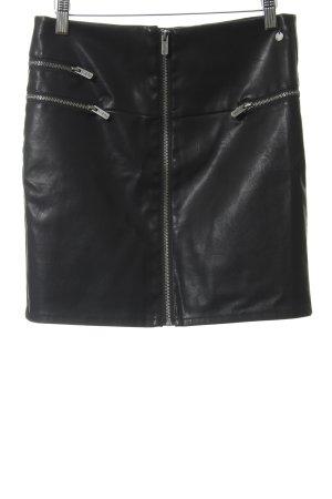 Pepe Jeans Jupe en cuir synthétique noir style décontracté