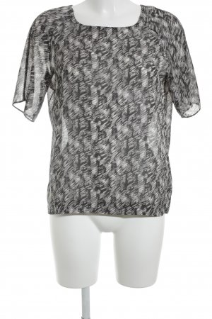Pepe Jeans Short Sleeved Blouse abstract pattern transparent look
