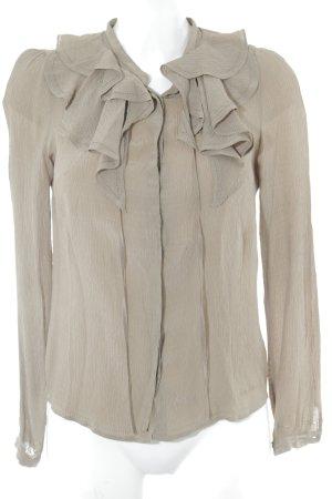 Pepe Jeans Langarm-Bluse beige Punktemuster Casual-Look