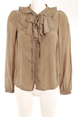Pepe Jeans Langarm-Bluse khaki Punktemuster Casual-Look