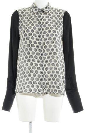 Pepe Jeans Langarm-Bluse schwarz-creme Blumenmuster Elegant