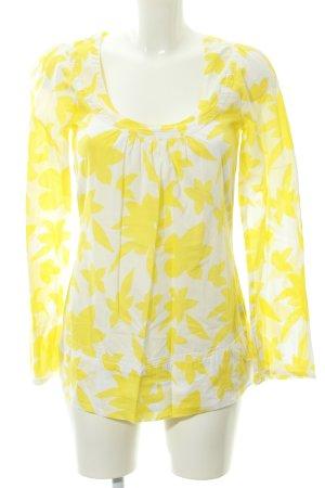 Pepe Jeans Langarm-Bluse weiß-gelb Blumenmuster Romantik-Look