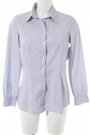 Pepe Jeans Langarm-Bluse weiß-himmelblau Streifenmuster Casual-Look