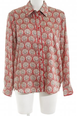 Pepe Jeans Langarmhemd rot-creme abstraktes Muster Casual-Look