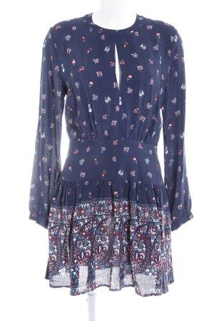Pepe Jeans Langarmkleid dunkelblau florales Muster Casual-Look