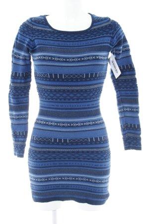 Pepe Jeans Langarmkleid dunkelblau-himmelblau abstraktes Muster Casual-Look