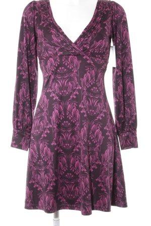 Pepe Jeans Langarmkleid graulila-violett florales Muster Casual-Look