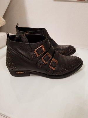 Pepe Jeans Leder Boots schwarz mit Nieten Gr.39