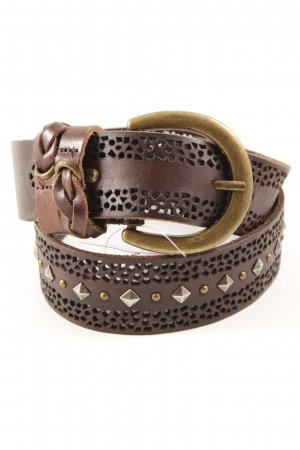 Pepe Jeans Leather Belt dark brown casual look