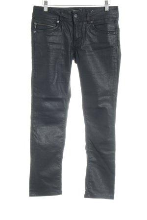 Pepe Jeans Lederhose schwarz Casual-Look