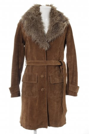 Pepe Jeans Leather Coat light brown casual look