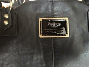 Pepe Jeans Ledertasche schwarz