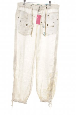 Pepe Jeans Linen Pants cream casual look