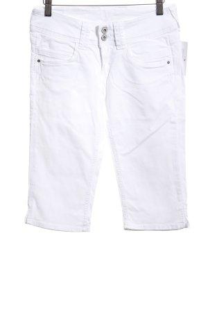 Pepe Jeans London Pantalón pirata blanco look casual