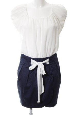 Pepe Jeans London Blusenkleid weiß-blau Elegant