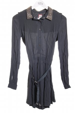 Pepe Jeans London Blusenkleid petrol-silberfarben Casual-Look