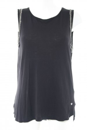 Pepe Jeans London Top bustino nero stile casual