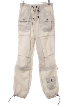 Pepe Jeans London Cargohose hellbeige-schwarz Street-Fashion-Look