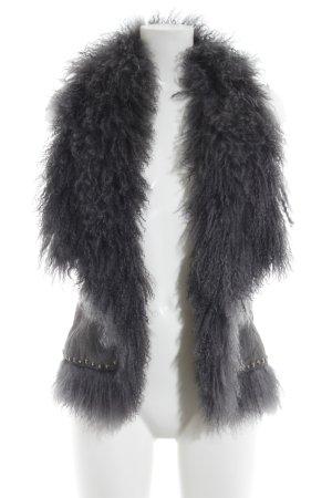 Pepe Jeans London Smanicato di pelliccia grigio Stile ciclista