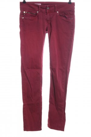 Pepe Jeans London Five-Pocket-Hose rot Casual-Look