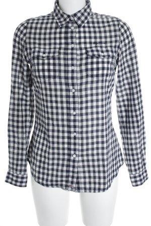 Pepe Jeans London Chemise en flanelle blanc-bleu foncé motif à carreaux
