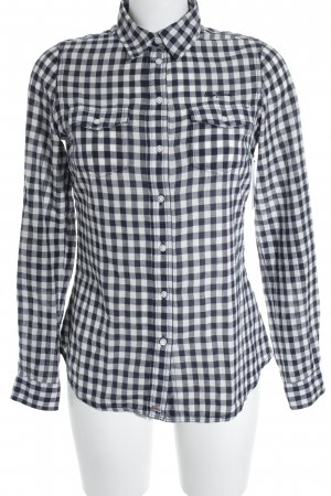 Pepe Jeans London Flanellhemd weiß-dunkelblau Karomuster Casual-Look