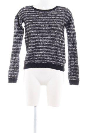 Pepe Jeans London Pull à gosses mailles noir-blanc motif rayé