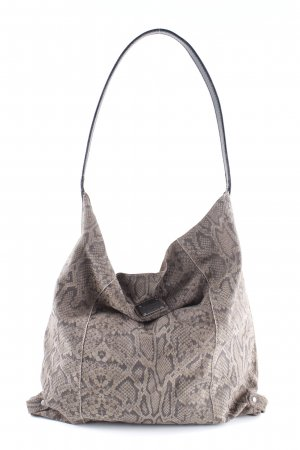 Pepe Jeans London Hobo graubraun-schwarz Reptil-Optik