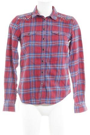 Pepe Jeans London Holzfällerhemd rot-stahlblau Karomuster Country-Look