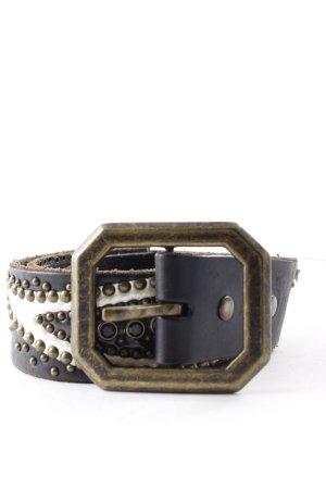 Pepe Jeans London Cintura fianchi marrone-nero-crema motivo paisley