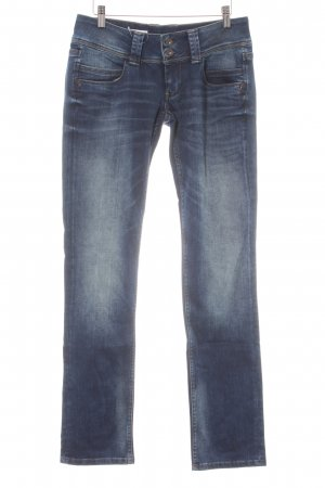 Pepe Jeans London Low Rise jeans donkerblauw casual uitstraling