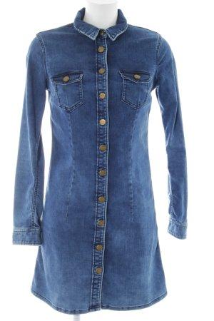 Pepe Jeans London Jeanskleid neonblau Casual-Look