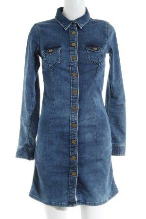 Pepe Jeans London Jeansjurk donkerblauw-staalblauw