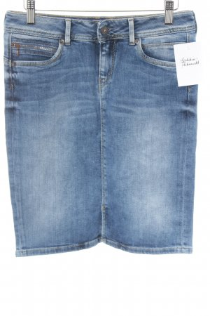 Pepe Jeans London Denim Skirt cornflower blue washed look