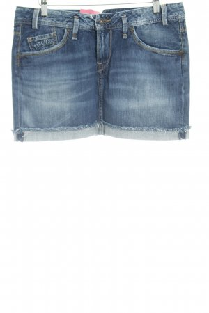 Pepe Jeans London Jeansrock stahlblau Washed-Optik