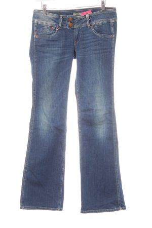Pepe Jeans London Jeans flare bleu acier style décontracté