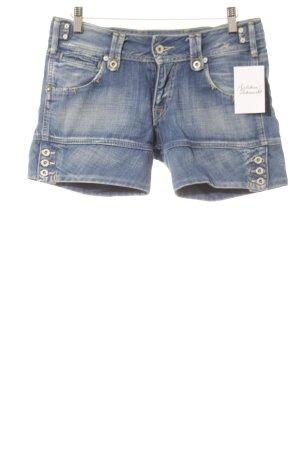 Pepe Jeans London Pantalón corto de tela vaquera azul look casual