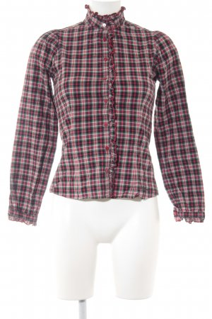 Pepe Jeans London Karobluse schwarz-rot Karomuster Casual-Look