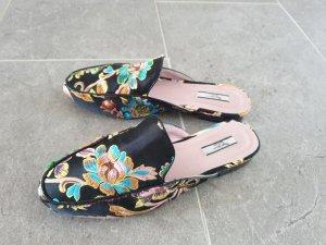Pepe Jeans London KLIMPT Gr. 39 - Pantoletten mit floraler Stickerei