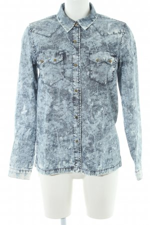 Pepe Jeans London Langarm-Bluse graublau Batikmuster Washed-Optik