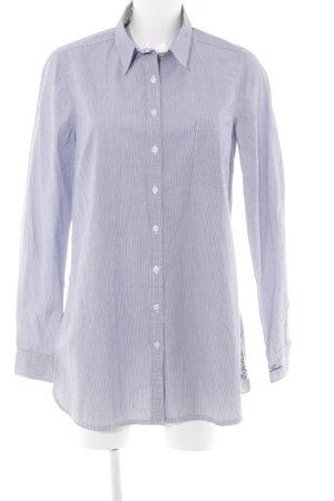 Pepe Jeans London Langarmhemd himmelblau-weiß Nadelstreifen Casual-Look