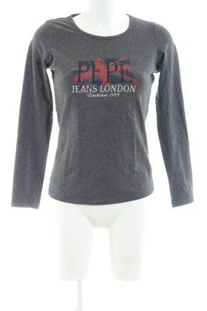 Pepe Jeans London Longsleeve hellgrau meliert Casual-Look