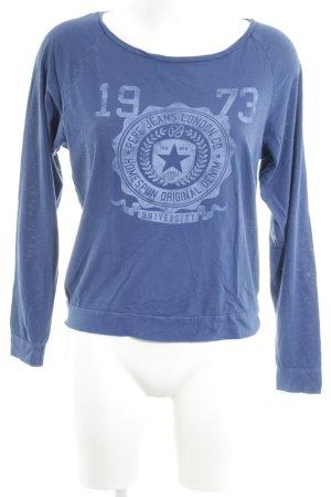 Pepe Jeans London Longsleeve blau Motivdruck Casual-Look