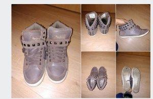 Pepe Jeans London Sneaker con strappi marrone-marrone chiaro