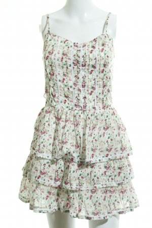 Pepe Jeans London Minikleid wollweiß Blumenmuster Romantik-Look